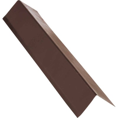 NorWesco A 2 In. X 3 In. Galvanized Steel Roof & Drip Edge Flashing, Brown