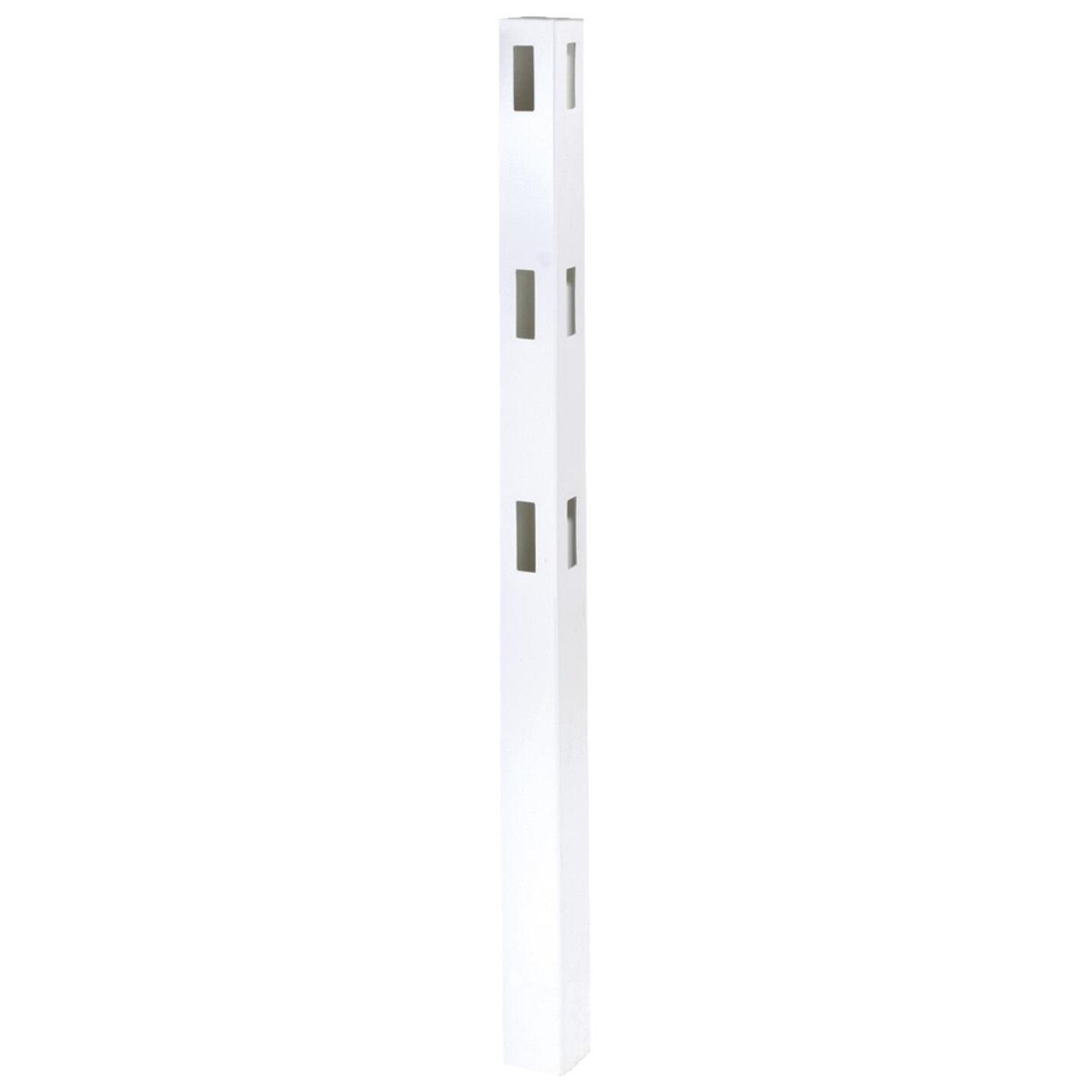 Outdoor Essentials 5 In. x 5 In. x 84 In. White Corner 3-Rail Fence Vinyl Post Image 2
