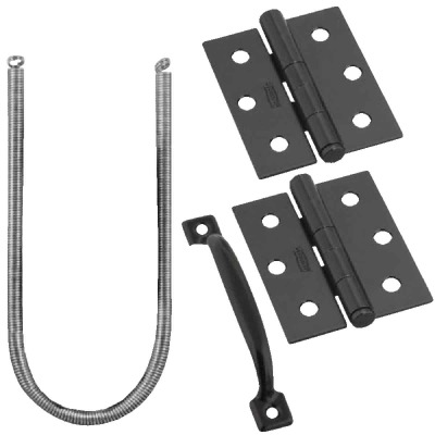 National Black 2-Hinge Screen Door Kit