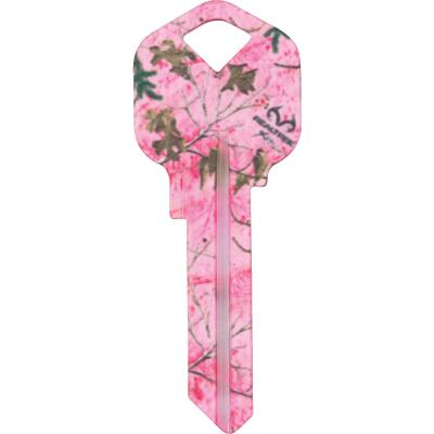 ILCO Kwikset Realtree Paradise Pink Camo Design Decorative Key, KW1