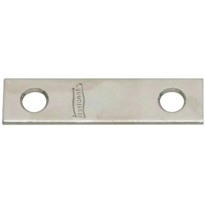 National Catalog 118 2 In. x 1/2 In. Zinc Steel Mending Brace (4-Count)