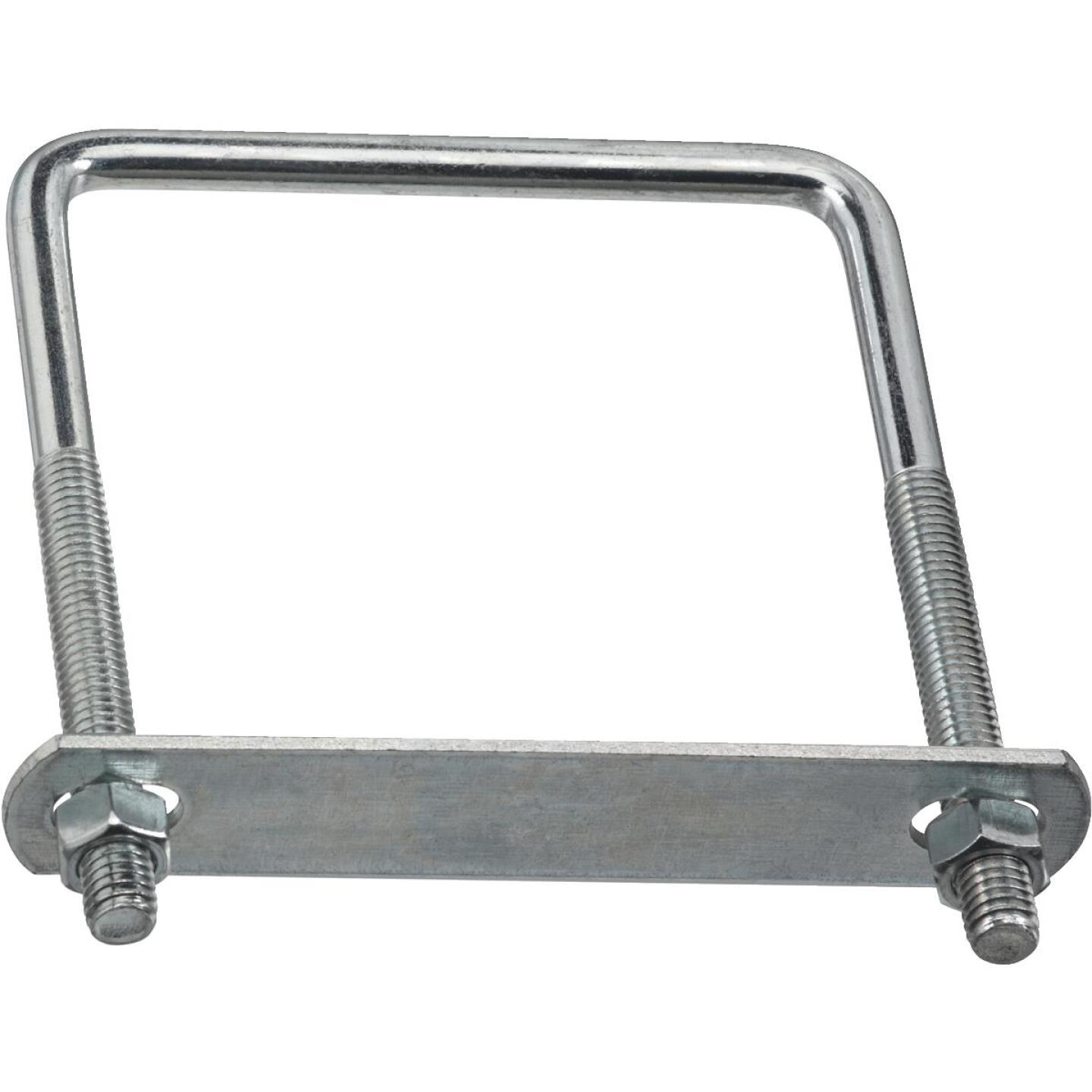 National 3/8 In. x 4 In. x 5 In. Zinc Square U Bolt Image 1