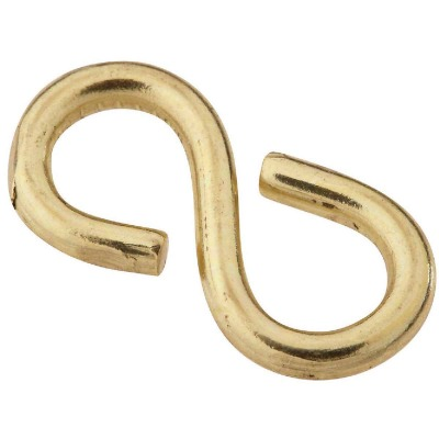 National 7/8 In. Brass Light Closed S Hook (3 Ct.)