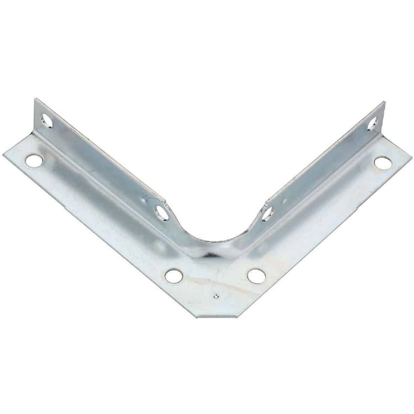National Catalog V114 Series 4 In. x 5/8 In. Zinc Corner Brace (4-Count) Image 1