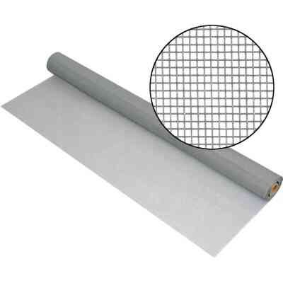 Phifer 24 In. x 100 Ft. Gray Fiberglass Mesh Screen Cloth