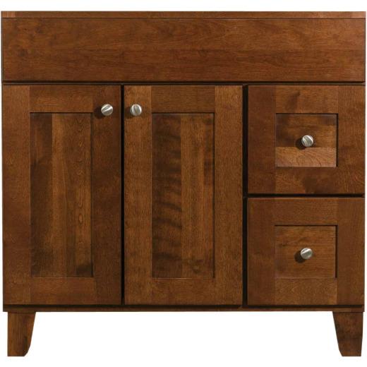 Bertch Osage Brindle 36 In. W x 34-1/2 In. H x 21 In. D Vanity Base, 2 Door/2 Drawer