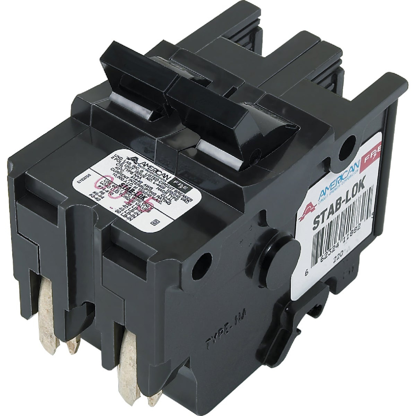 Connecticut Electric 60A Double-Pole Standard Trip Packaged Replacement Circuit Breaker For Federal Pacific Image 1