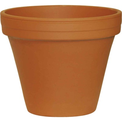 Ceramo 5-1/4 In. H. x 6 In. Dia. Terracotta Clay Standard Flower Pot