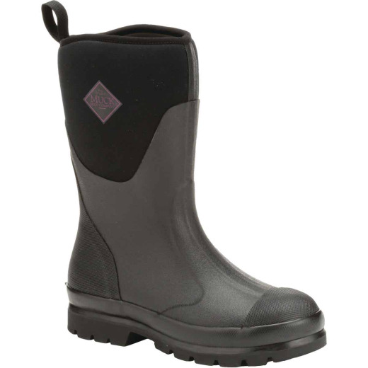 Muck Chore Mid Women's Size 8 Black Rubber Pull-On Boot