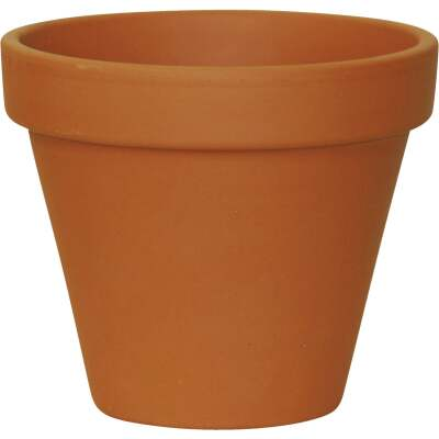 Ceramo 3-3/4 In. H. x 4-1/2 In. Dia. Terracotta Clay Standard Flower Pot