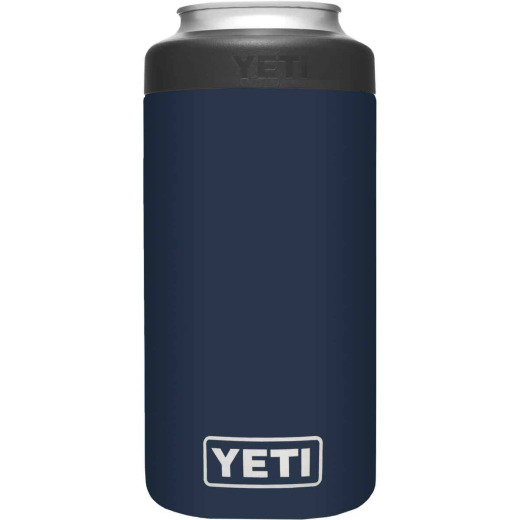 Yeti Rambler Colster Tall 16 Oz. Navy Stainless Steel Insulated Drink Holder with Load-And-Lock Gasket