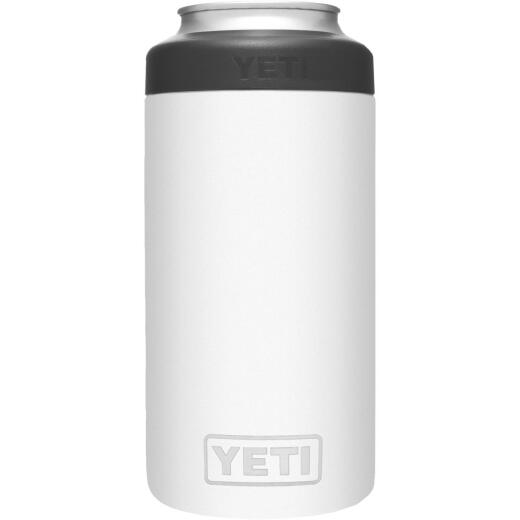 Yeti Rambler Colster Tall 16 Oz. White Stainless Steel Insulated Drink Holder with Load-And-Lock Gasket