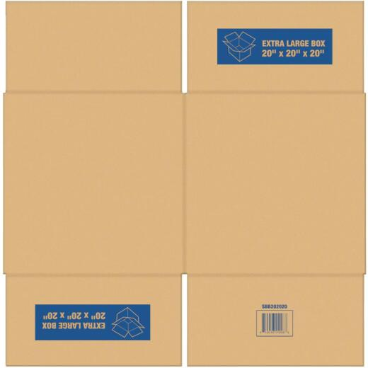 Square Built Extra Large Cardboard Moving Box